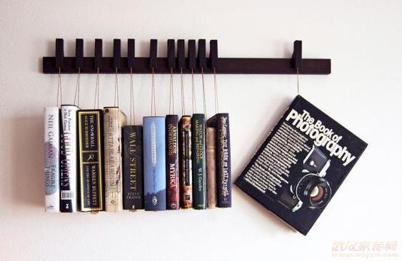 创意书架设计书房远离呆板氧气表
